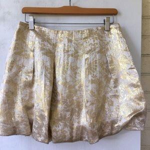 J Crew Gold Silk Bubble Skirt 4